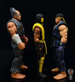 storm collectibles scorpion figure review -facing heihachi and ryu