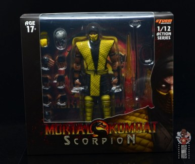 storm collectibles scorpion figure review - package front