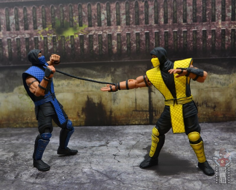 storm collectibles scorpion figure review -spearing sub-zero