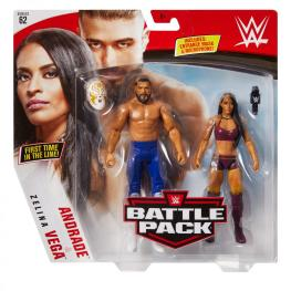 wwe battle pack 62 - andrade and zelina vega - front package