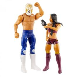 wwe battle pack 62 - andrade and zelina vega - with accessories