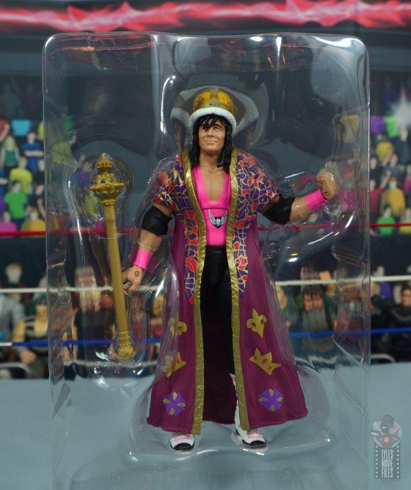wwe bret hart king of the ring 1993 figure review - accessories in tray
