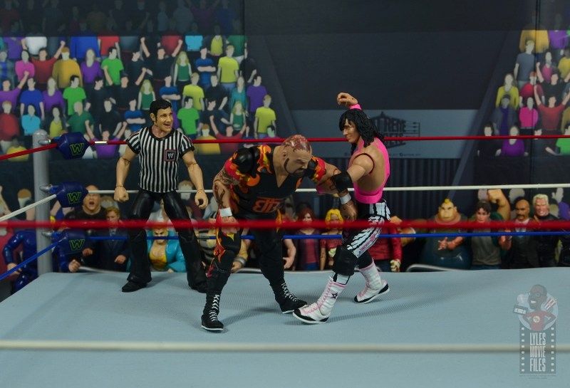 wwe bret hart king of the ring 1993 figure review - punching bam bam bigelow