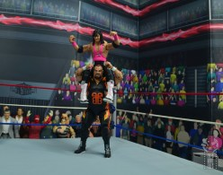 wwe bret hart king of the ring 1993 figure review - victory roll on bam bam bigelow