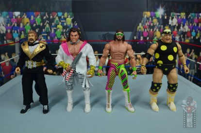wwe elite macho king figure review - scale with ted dibiase, brutus beefcake and dusty rhodes