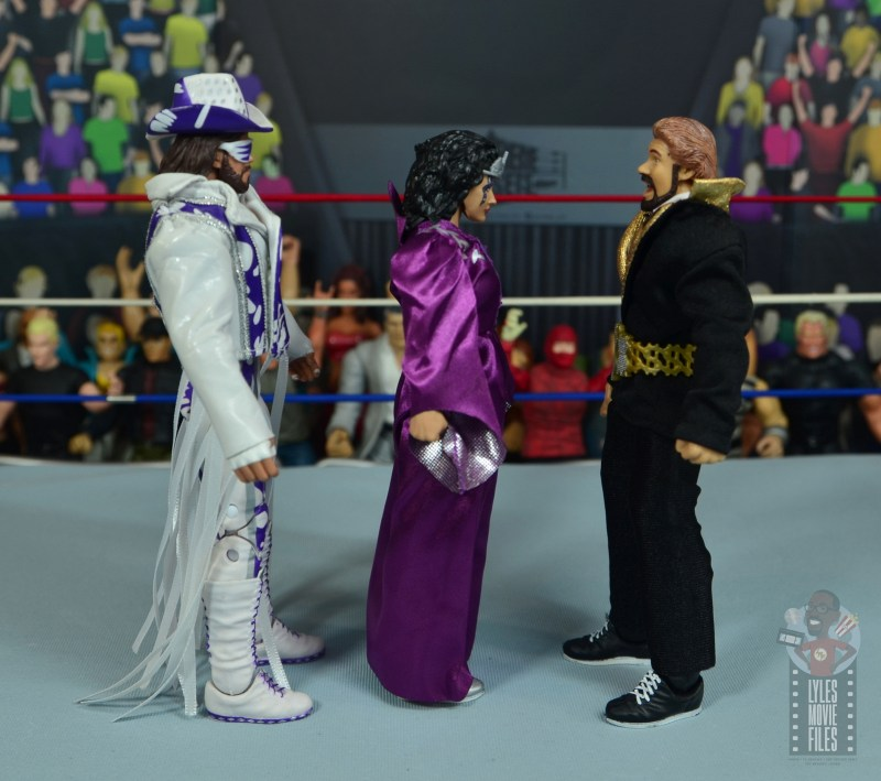 wwe elite sensational sherri figure review - facing macho king and ted dibiase
