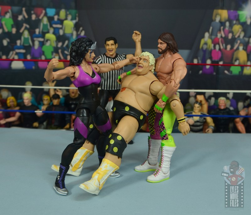 wwe elite sensational sherri figure review - punching dusty rhodes with macho king
