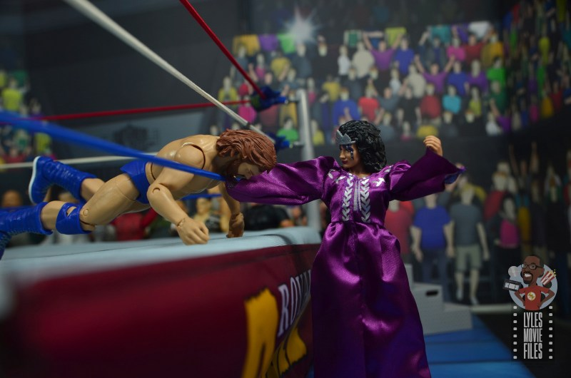 wwe elite sensational sherri figure review - punching hacksaw jim duggan
