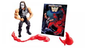 wwe masters of the universe sting - accessories and mini-comic