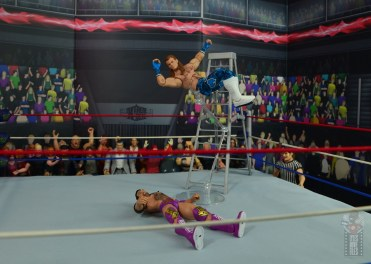 wwe network spotlight shawn michaels figure review - elbow from the ladder