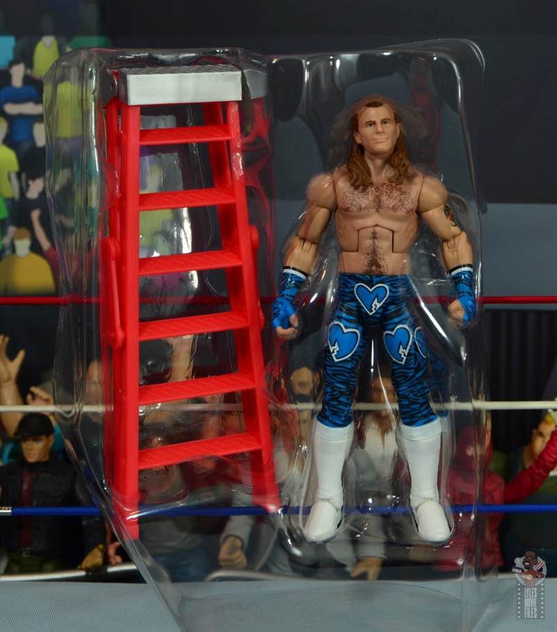wwe network spotlight shawn michaels figure review - figure and accessories in tray