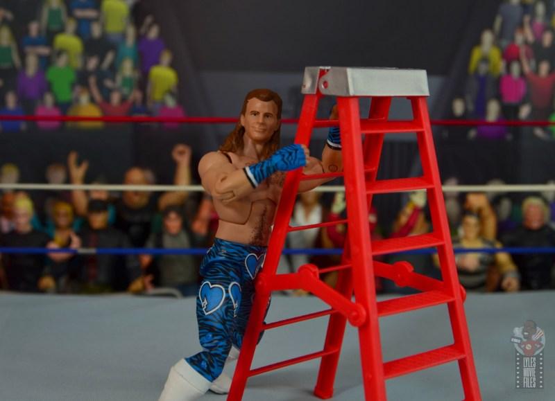 wwe network spotlight shawn michaels figure review - on ladder