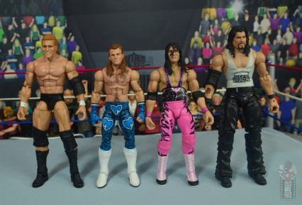 wwe network spotlight shawn michaels figure review - scale with sycho sid, bret hart and diesel