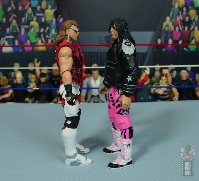 wwe ultimate edition bret hitman hart figure review - face off with shawn michaels