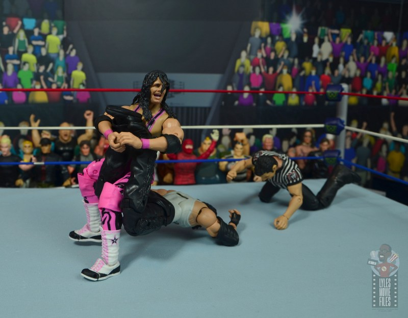 wwe ultimate edition bret hitman hart figure review - sharpshooter to diesel