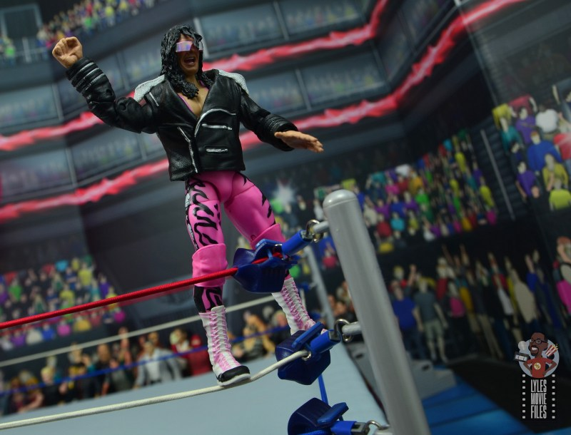 wwe ultimate edition bret hitman hart figure review -standing on the middle ropes