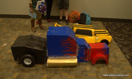 Baltimore Comic Con 2019 cosplay - optimus prime and bumblebee