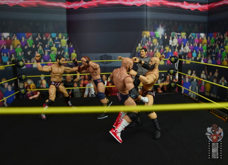 WWE Hall of Champions DIY figure review - fist fight with the revival