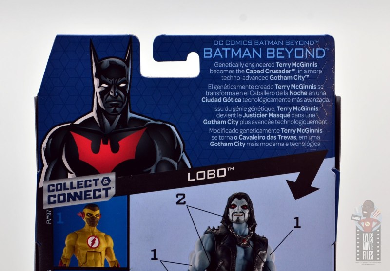 dc multiverse batman beyond figure review -package bio
