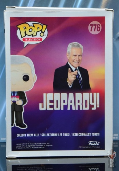 funko pop alex trebek figure review - package rear