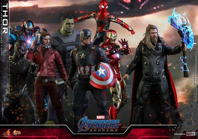 hot toys avengers endgame thor figure - avengers assemble