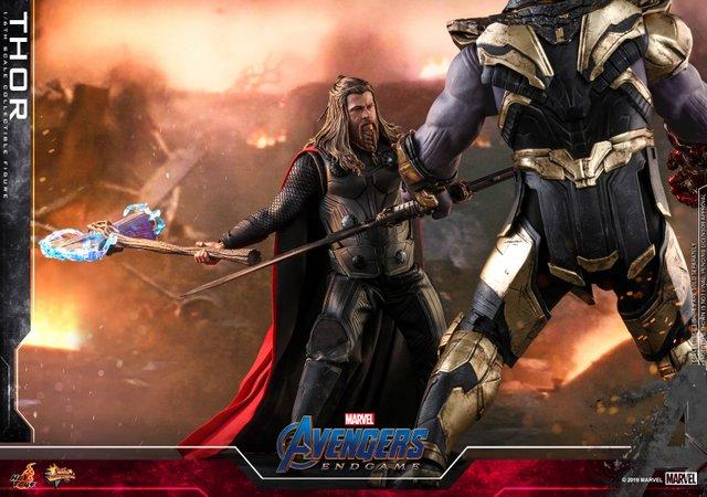 hot toys avengers endgame thor figure - fighting thanos
