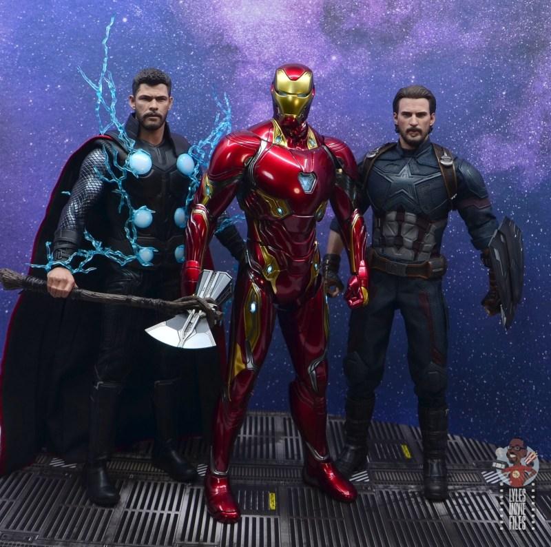 hot toys avengers infinity war iron man figure review - infinity war thor, iron man and captain america