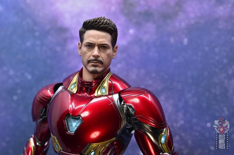 hot toys avengers infinity war iron man figure review - tony stark head wide