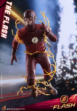 hot toys cw the flash figure - on the run