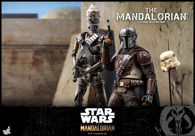 hot toys the mandalorian figure - with ig-11