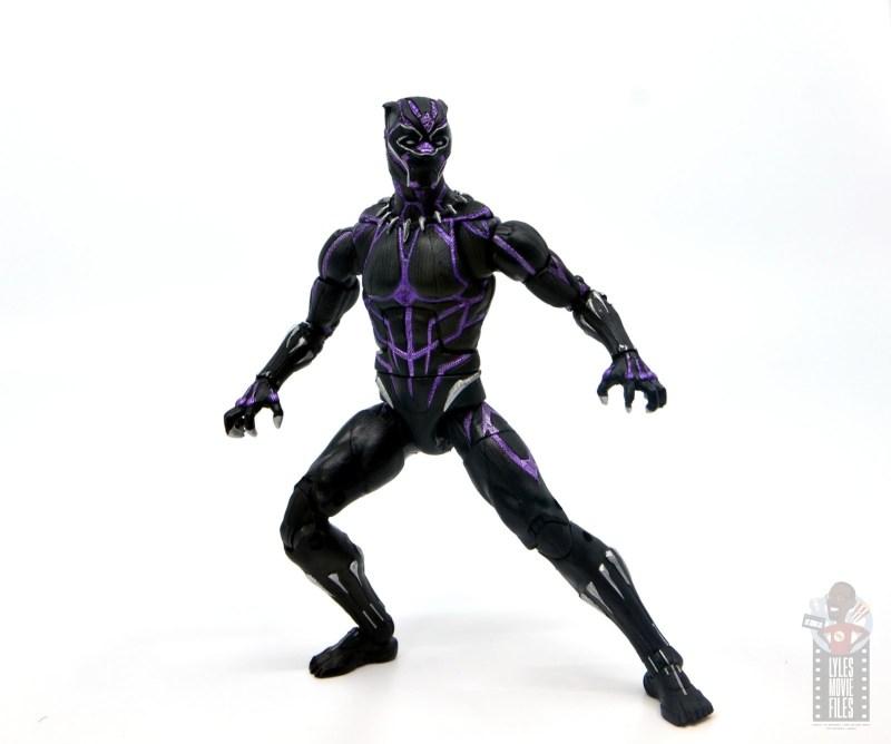 marvel legends black panther vibranium effect figure review - battle stance