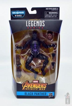 marvel legends black panther vibranium effect figure review - package front
