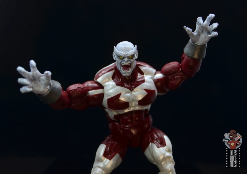 marvel legends build a figure caliban figure review - leaping