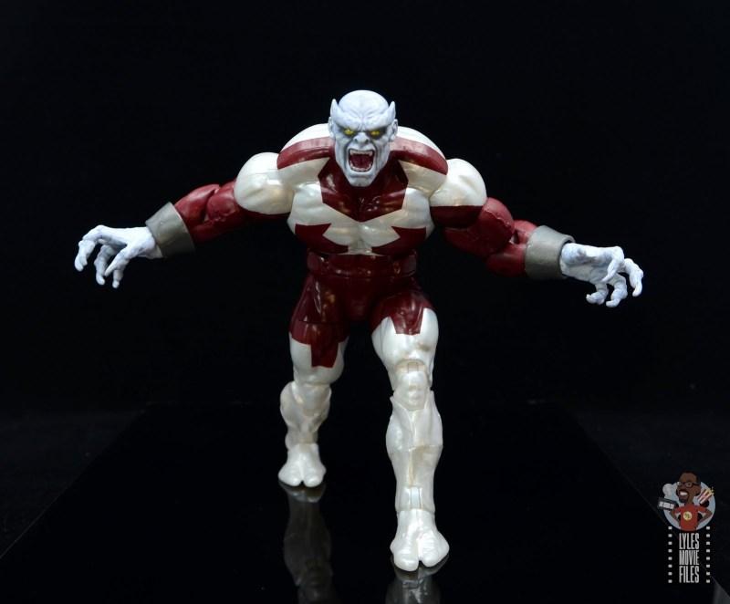 marvel legends build a figure caliban figure review - on the move