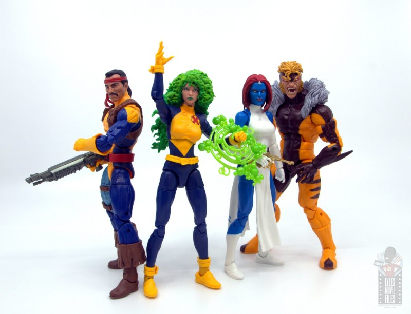 marvel legends havok and polaris figure review - polaris with forge, mystique and sabretooth