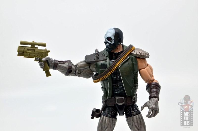 marvel legends skullbuster figure review -aiming gun