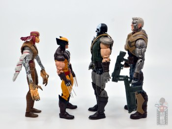 marvel legends skullbuster figure review - facing lady deathstrike, wolverine and cable