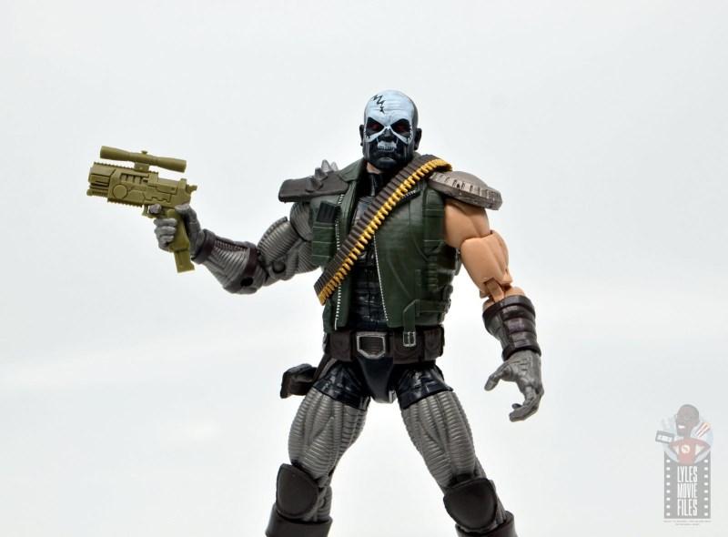 marvel legends skullbuster figure review - gun wide shot