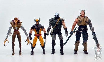 marvel legends skullbuster figure review - scale with lady deathstrike, wolverine and cable