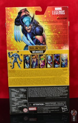 marvel legends x-force wolverine figure review - package rear