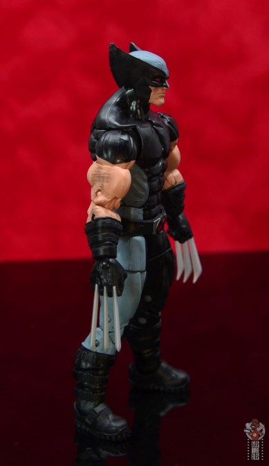 marvel legends x-force wolverine figure review - right side