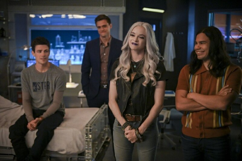 the flash - a flash of the lightning review - barry, ralph, caitlin and cisco