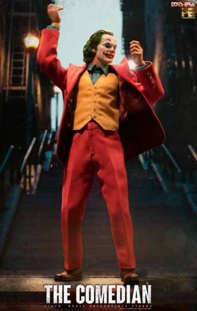 toy era the comedian joker figure - dancing on the steps