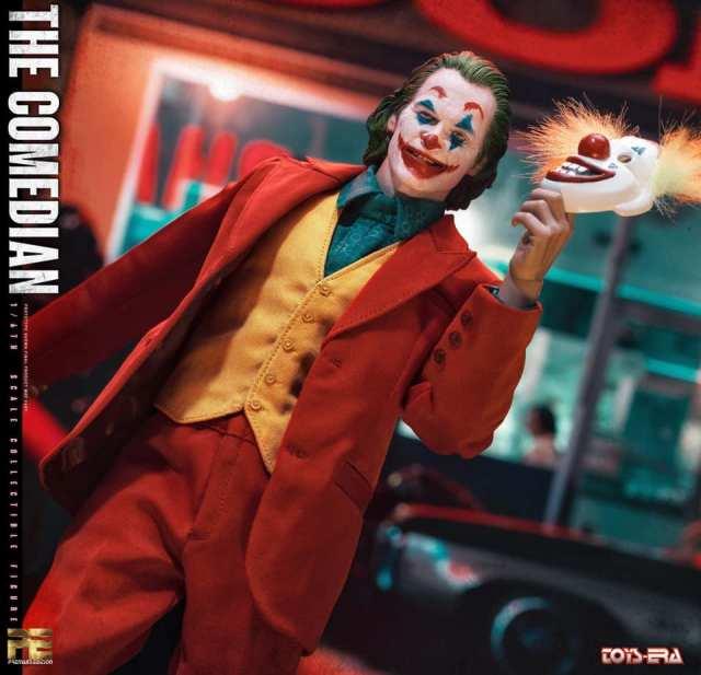 toy era the comedian joker figure - with clown mask