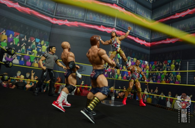 wwe elite american alpha figure review - chad gable flies