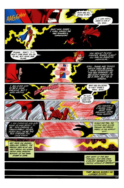 crisis on infinite earths #5 - red tornado falls