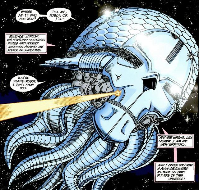 crisis on infinite earths #6 - braniac recruits lex luthor
