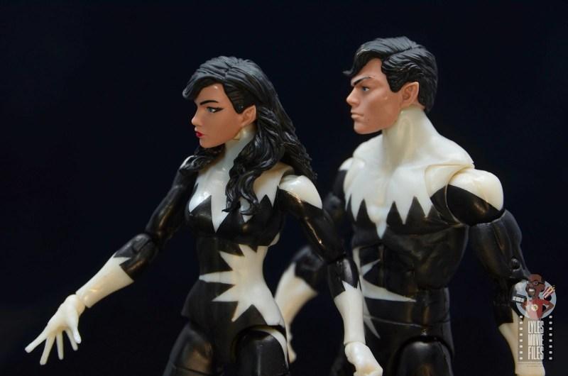 marvel legends alpha flight figure set review - northstar and aurora - head detail