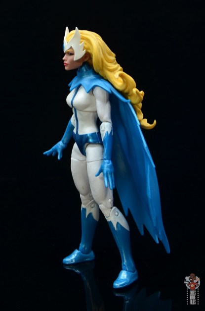 marvel legends alpha flight figure set review - snowbird figure - left side