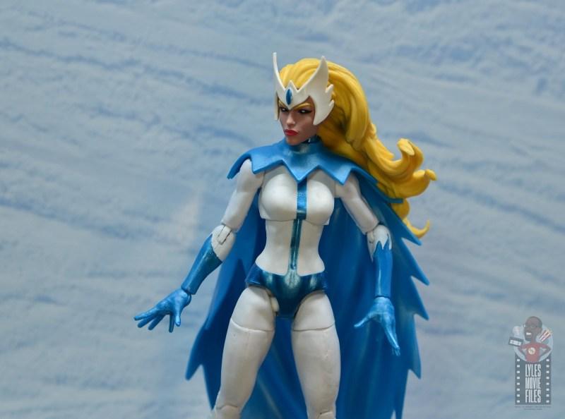 marvel legends alpha flight figure set review - snowbird figure - with snowy backdrop